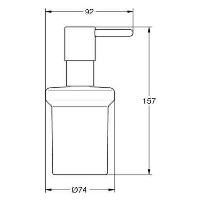 GROHE Seifenspender Essentials 40394 Essentials/-Cube 40394BE1 Polished Nickel
