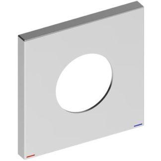 KEUCO KE Wandrosette EHM IXMO 59551, eckig, 105×105 mm, pol. Schwarzchrom dunkel