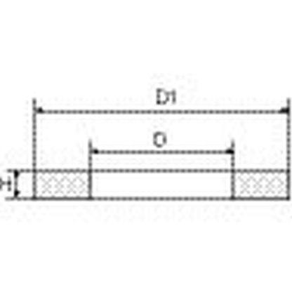 10er Pack RIEGLER Flachdichtung, (NBR mit Aramidfasern), für Anschl.1/4 162262