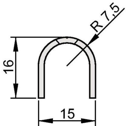 Athmer Fingerschutzprofil Bandseite BS-BU-16 C-0 Länge 1000mm silberfarben 5821