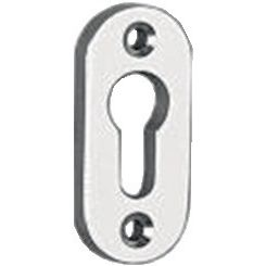 EDI Schlüsselrosetten 1393 Aluminium F1gebürstet Schildstärke 7mm PZ ov.