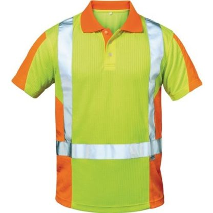 Feldtmann Elysee Warnschutz-Poloshirt Zwolle Größe L gelb/orange 75% PES/25% CO