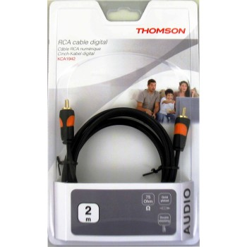Thomson Audio-Verbindungskabel, Cinch-Stecker, digital, 2 m