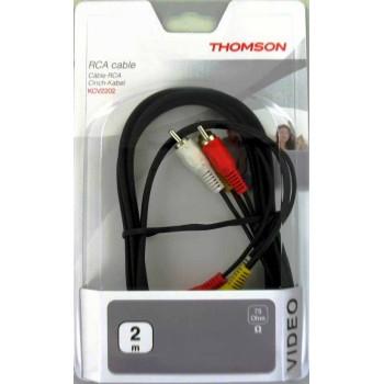 Thomson Audio-Video-Verbindungskabel, 3x Cinch-Stecker, 2 m