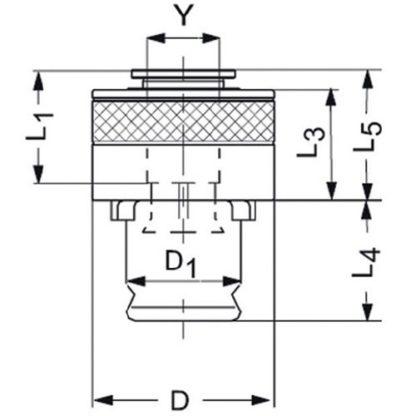 Werner Wilke Schnellwechsel-Einsatz SES Gr. 1 Sicherheits-kp. 7×5,5mm DIN376 M10