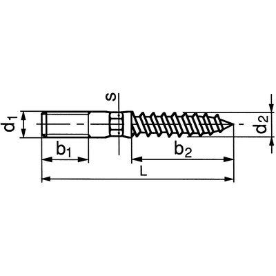 Stockschrauben M8 x 60 Stahl verzinkt 100 Stk