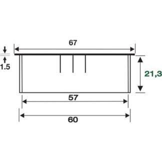 BMB Kabeldurchführung Zamag VA finish Durchmesser 60mm 2066.572 Bürstendichtung