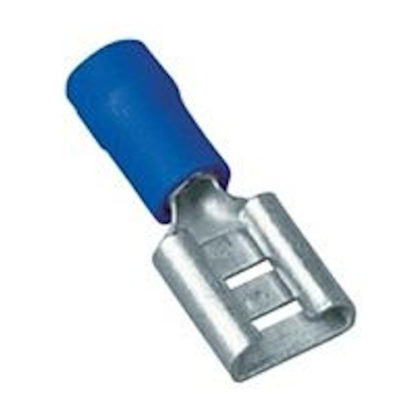 Flachsteckhülse blau 1,5-2,5mm² 6,3×0,8mm 100Stück/Beutel 999.551