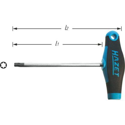 HAZET Schraubendreher 828-T6 – Innen TORX® Profil –  T6 mm