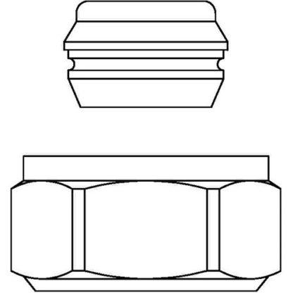 Oventrop OV Klemmringverschraubung 15mm Überwurfmutter vernickelt