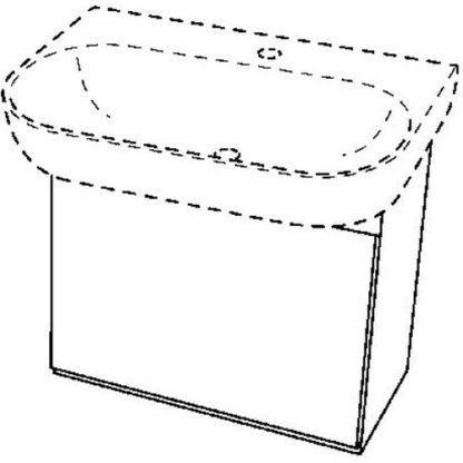 NUR ABHOLUNG – Keramag 4U Waschtischunterschrank 400 x 460 x 388 mm weiß
