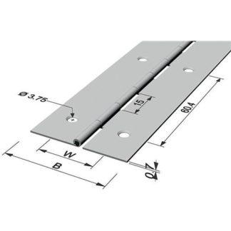 NUR ABHOLUNG – PG Stangenscharnier B offen 32mm S 0,7mm 1200mm Eisen vermessingt