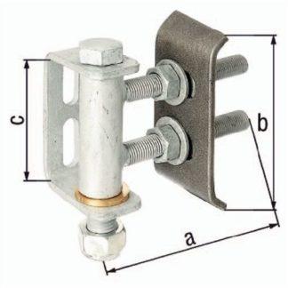 GAH Alberts Torband 135x136x101mm STA roh 411350 max. 300Kg