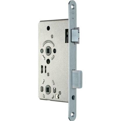 SSF Zimmertür-Einsteckschloss BAD 20/ 65/78/8mm DIN R silber rd 3324024321