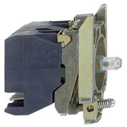 Schneider Electric ZB4 BW0B154 Hilfsschalterblock, Ø 22, weiß Integral LED 1S+1Ö
