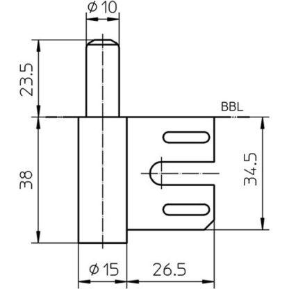 SIMONSWERK Rahmenteil V 8100 STA verzinkt 2-tlg.Stahlzargen Stand.