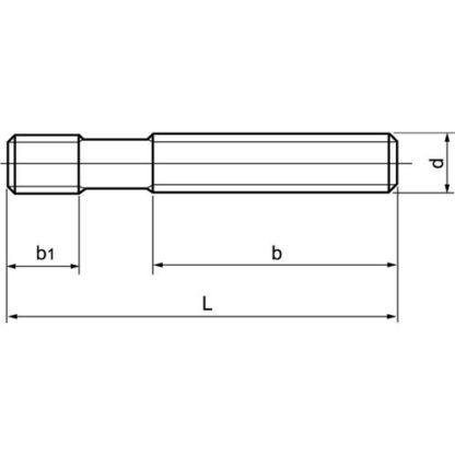 3x AMF Stiftschraube M10 x 100 Stahl DIN 6379