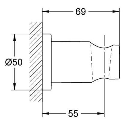 GROHE Handbrausehalter RAINSHOWER Rainshower Hard Graphite glänzend 27074A00