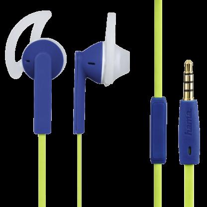 """hama In-Ear-Stereo-Headset """"JOY SPORT"""" Grün/Blau 177015 Ohrhörer 3,5-mm-Klinke"""