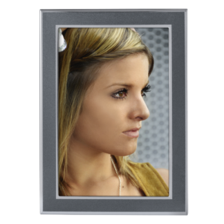 "hama Porträt-Rahmen für Foto ""Philadelphia"", 10 x 15 cm, Anthrazit/Silber 125555"