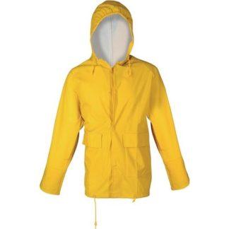 ASATEX® Regenjacke Gr.S gelb PU-Stretch mit Kapuze EN343 Kl.2 reißfest