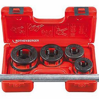 ROTHENBERGER Gewinde-Schneidkluppen-Set 1/2 3/4 1 11/4 Kunststoff-Koffer 7.0781X