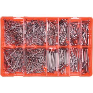 KENNEDY Splint-Set kleine Größen verzinkt im Sortimentkasten KEN6154430K