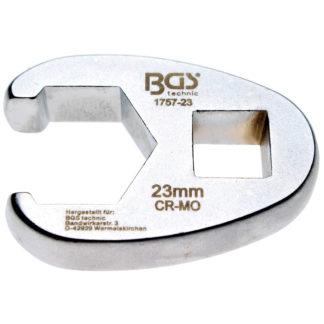 BGS Hahnenfußschlüssel | Antrieb Innenvierkant 12,5 mm (1/2″) | 1757-23