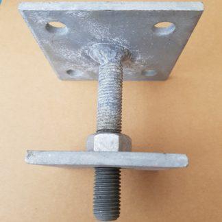 Fixman Pfostenträger, Aufschraubhülse 100 x 100 mm 721033 Höhe 154 mm 175×175 mm