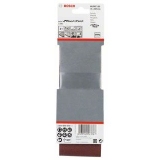 Bosch Schleifband-Set X440 Best for Wood and Paint, 3-teilig, 75 x 457 mm, 60, 80,100