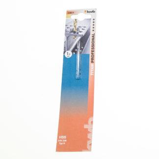KWB HSS-Spiralbohrer Titan Ø 1,0 mm DIN 338, 135°, rechtsschneidend 238610