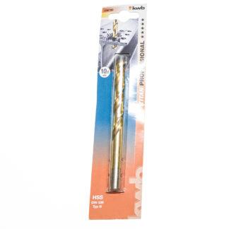 KWB HSS-Spiralbohrer Titan Ø 10,0 mm DIN 338, 135°, rechtsschneidend 238700