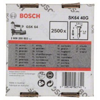 Bosch Senkkopf-Stift SK64 40G, 1,6 mm, 40 mm, verzinkt 2500 Stifte